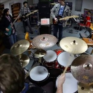 Matt on drums with Inatia.
